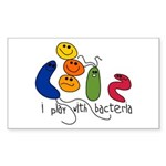 Play with Bacteria Rectangle Sticker