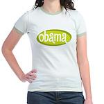 Obama Retro Mint/Avocado Jr. Ringer T-Shirt