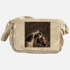 western horse leather pattern Messenger Bag