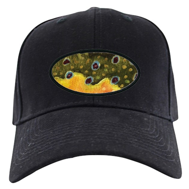 Trout fly fishing baseball hat by troutwhiskers for Fly fishing cap