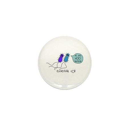 Poo Bacteria Mini Button (10 pack)