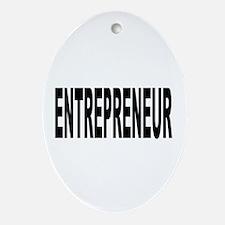 Entrepreneur Oval Ornament