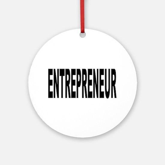 Entrepreneur Ornament (Round)