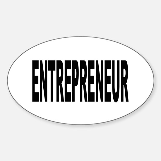 Entrepreneur Oval Decal