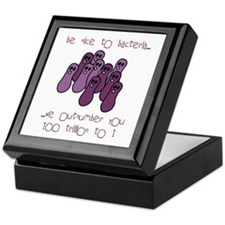 Be Nice to Bacteria Keepsake Box