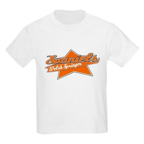 Baseball Welsh Springer Spaniel Kids Light T-Shirt