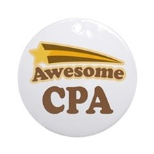 Awesome CPA Ornament (Round)