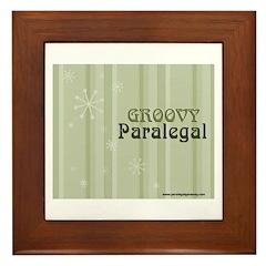 Groovy Paralegal Framed Tile