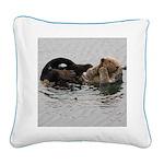 California Sea Otter Square Canvas Pillow