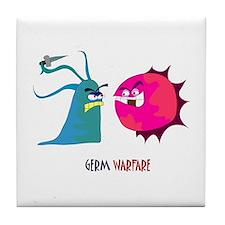 Germ Warfare Tile Coaster
