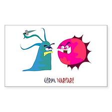 Germ Warfare Rectangle Decal