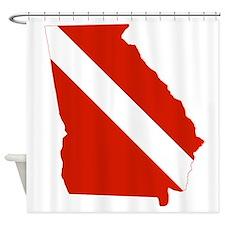 Georgia Diver Shower Curtain