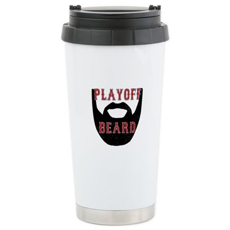 Boston Playoff beard Travel Mug
