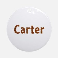 Carter Fall Leaves Round Ornament