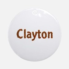 Clayton Fall Leaves Round Ornament