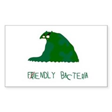 Fiendly Bacteria Rectangle Decal