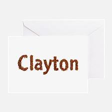 Clayton Fall Leaves Greeting Card