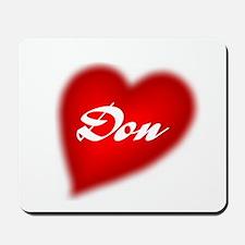 I love Don Mousepad