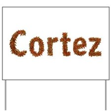 Cortez Fall Leaves Yard Sign