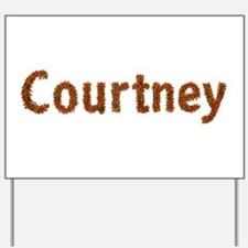 Courtney Fall Leaves Yard Sign