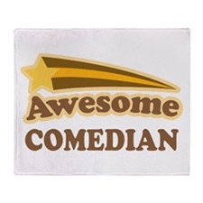 Awesome Comedian Throw Blanket