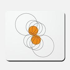 Basketball Crop Circle Mousepad