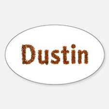 Dustin Fall Leaves Oval Decal