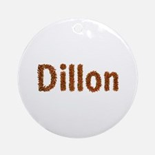 Dillon Fall Leaves Round Ornament