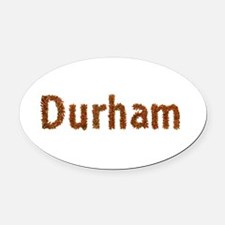 Durham Fall Leaves Oval Car Magnet