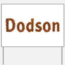 Dodson Fall Leaves Yard Sign