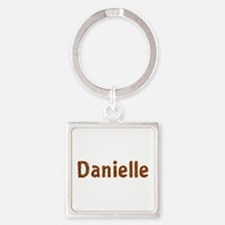 Danielle Fall Leaves Square Keychain