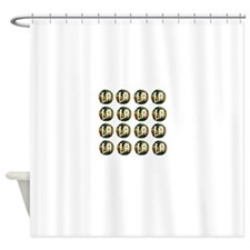 LA Hipster Shower Curtain
