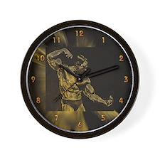 Body Building Pose Wall Clock
