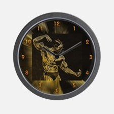 Body Building Pose Wall Clock