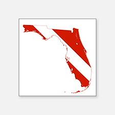 """Florida Diver Square Sticker 3"""" x 3"""""""