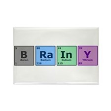 Brainy Rectangle Magnet