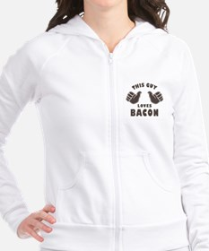 This Guy Loves Bacon Fitted Hoodie