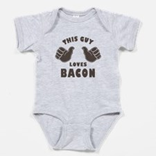 This Guy Loves Bacon Baby Bodysuit