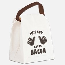 This Guy Loves Bacon Canvas Lunch Bag