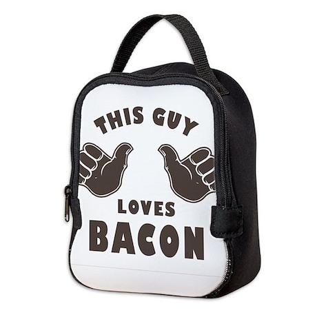 This Guy Loves Bacon Neoprene Lunch Bag