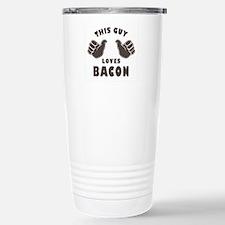 This Guy Loves Bacon Stainless Steel Travel Mug