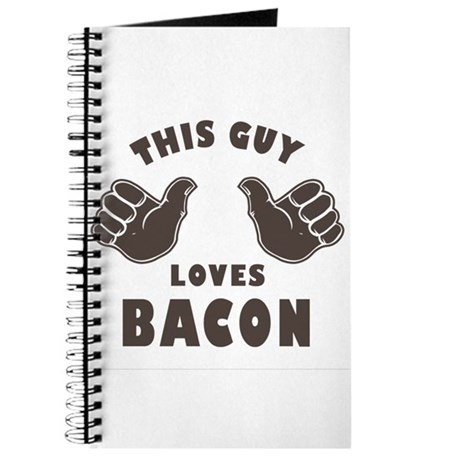 This Guy Loves Bacon Journal