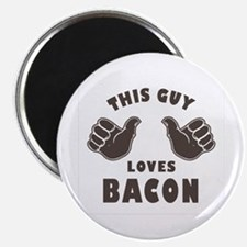 "This Guy Loves Bacon 2.25"" Magnet (10 pack)"