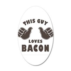 This Guy Loves Bacon Wall Decal
