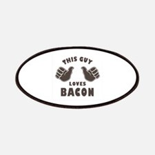 This Guy Loves Bacon Patches