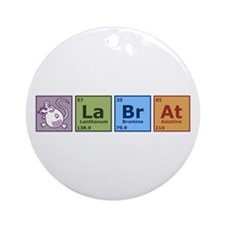 Periodic Lab Rat Ornament (Round)