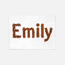 Emily Fall Leaves 5'x7' Area Rug