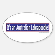 Its An Australian Labradoodle Oval Decal