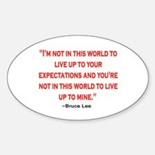 BRUCE LEE QUOTE Decal