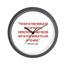 BRUCE LEE QUOTE Wall Clock